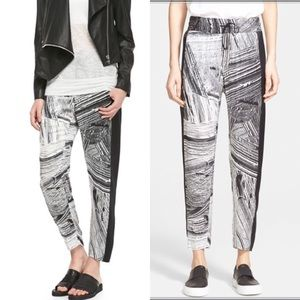 Helmut Lang Method Print Silk Pants